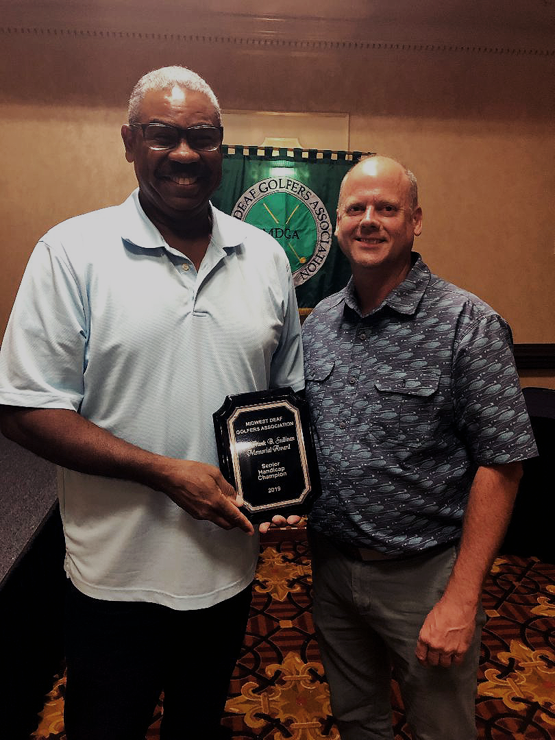 MDGA 2019 Senior Handicap champion, Kenneth Clark